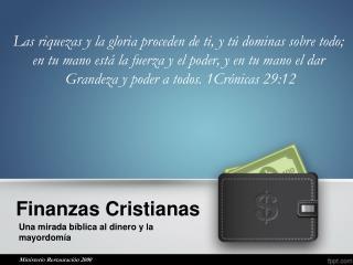 Finanzas Cristianas