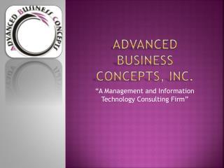 Advanced Business Concepts, Inc.