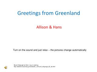 Greetings from Greenland
