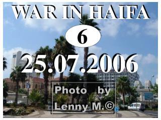 WAR IN HAIFA