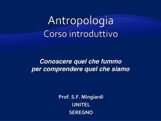 Antropologia Corso introduttivo