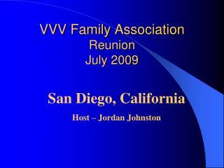 VVV Family Association Reunion  July 2009