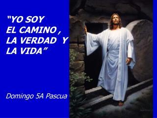 """""""YO SOY          EL CAMINO ,          LA VERDAD  Y LA VIDA"""" Domingo 5A Pascua"""