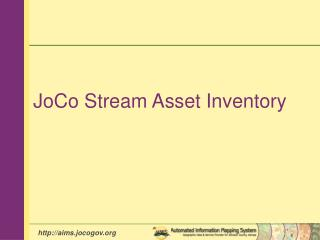 JoCo Stream Asset Inventory