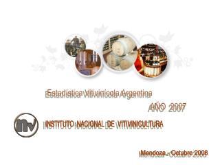 Estadística Vitivinícola Argentina