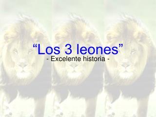 """""""Los 3 leones"""""""