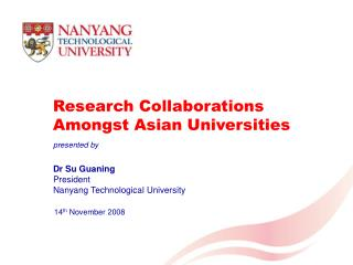 Research Collaborations Amongst Asian Universities
