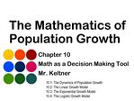 The Mathematics of Population Growth