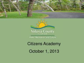 Citizens Academy  October 1, 2013