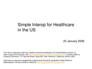 Simple Interop for Healthcare in the US
