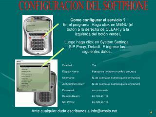 Como configurar el servicio ?