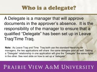 Who  is  a delegate?
