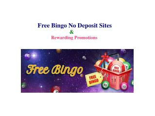 Free Bingo No Deposit Sites and Rewarding Promotions