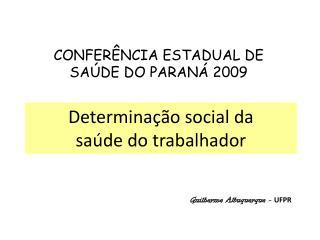 Determinação social da  saúde do trabalhador