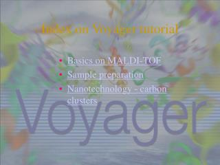 Index  on Voyager  tutorial