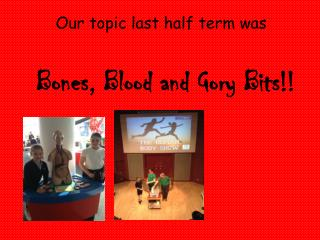 Our topic last half term was Bones, Blood and Gory Bits!!
