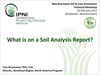 What is on a Soil Analysis Report?