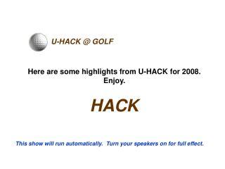 U-HACK @ GOLF