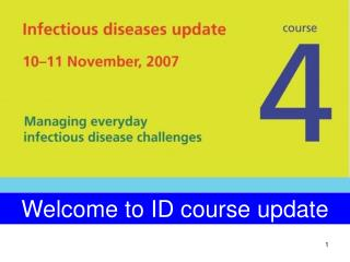 Welcome to ID course update
