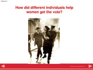 How did different individuals help  women get the vote?