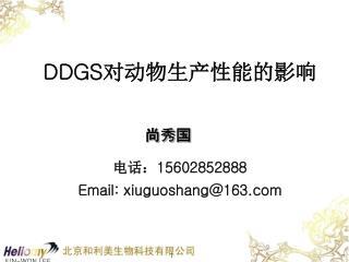 DDGS 对动物生产性能的影响