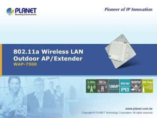 802.11a Wireless LAN Outdoor AP/Extender