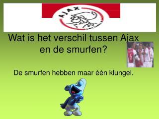 Wat is het verschil tussen Ajax   en de smurfen?
