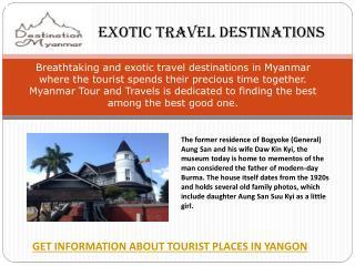 Exotic travel destination