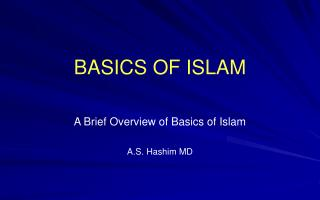 BASICS OF ISLAM