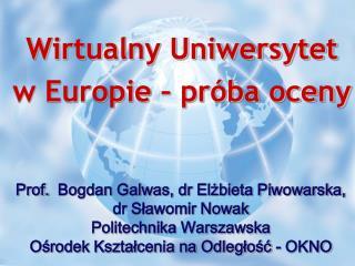Wirtualny Uniwersytet  w Europie – próba oceny