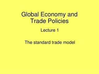 Global Economy and