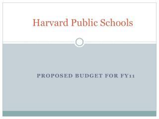 Harvard Public Schools