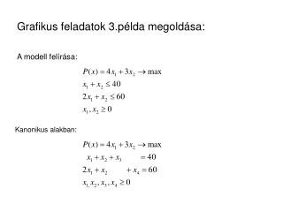 Grafikus feladatok 3.p lda megold sa: