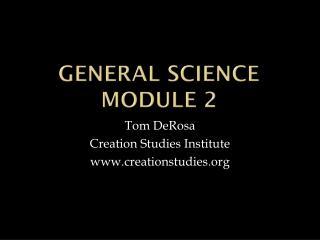 General Science  Module 2