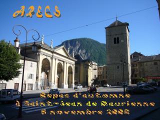 Repas d'automne à Saint-Jean de Maurienne 6 novembre 2008