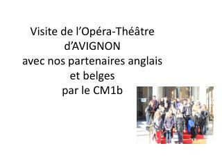 Visite de l'Opéra-Théâtre d'AVIGNON avec nos partenaires anglais et belges par le CM1b