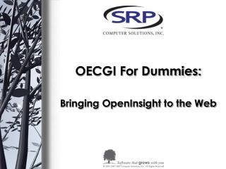 OECGI For Dummies:
