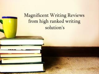 Online Best Writing Service Help