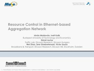 Resource Control in Ethernet-based Aggregation Network