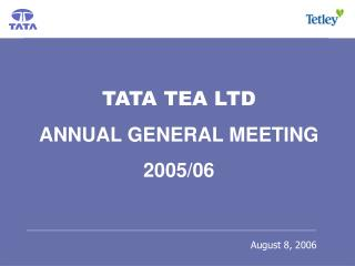 Tata Tea Ltd - Stand Alone