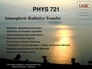 Atmospheric Radiative Transfer