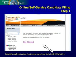 Online/Self-Service Candidate Filing Step 1