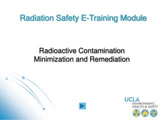 Radiation Safety E-Training Module