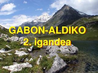 GABON-ALDIKO 2. igandea