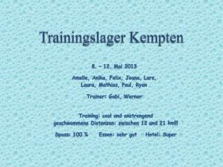Trainingslager Kempten