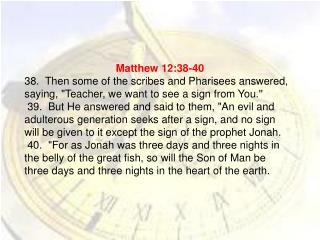 Matthew 12:38-40