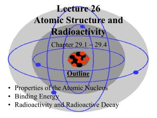 Lecture 26 Atomic Structure and Radioactivity