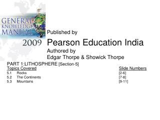 Published by Pearson Education India Authored by Edgar Thorpe & Showick Thorpe