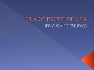 IES ARCIPRESTE DE HITA