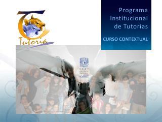 Programa Institucional  de Tutor�as